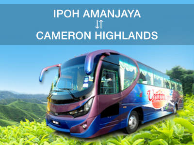 Ipoh to Cameron Highlands bus tickets now available online