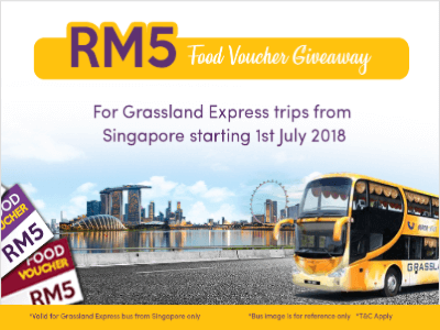 Easybook.com RM5 Food Voucher Giveaway for Grassland Express Trips from Singapore