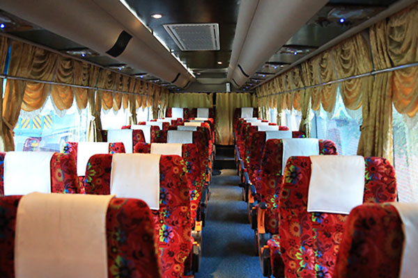 Golden Coach bus interior