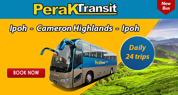 Ipoh to Cameron Highlands Bus Ticket Available Online
