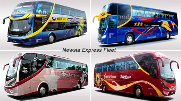 New Asian Travel's Express Bus Fleet