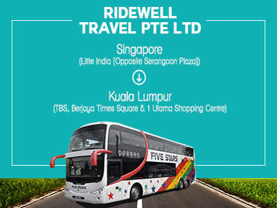 Ridewell Travel express buses from Little India to KL