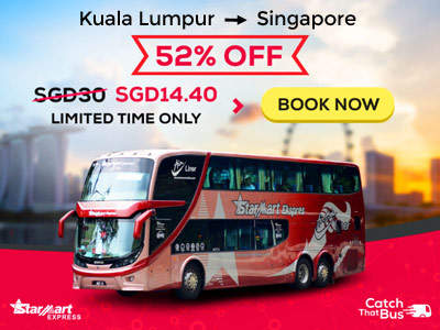 Starmart Bus Ticket from KL to SG only $14.40